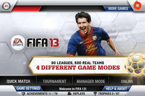 fifa 13 d sormais disponible sur ios jeux ipod. Black Bedroom Furniture Sets. Home Design Ideas